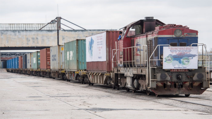 First test train from China arrives in Bratislava