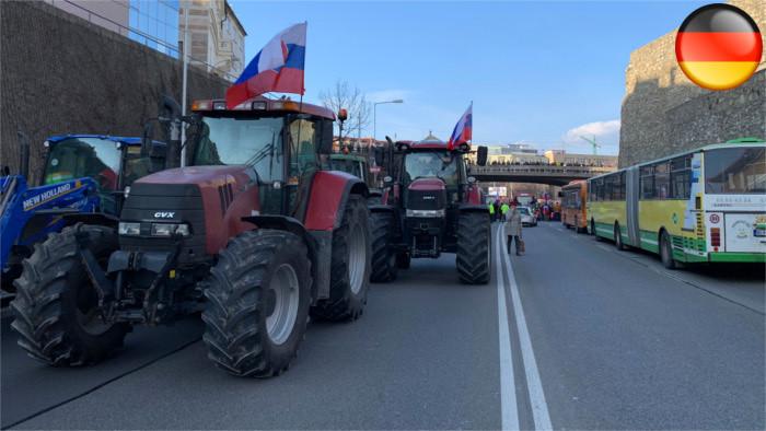 Slowakische Landwirte äußern ihren Unmut