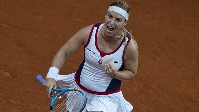 Уверенная победа словацких теннисисток в Братиславском матче
