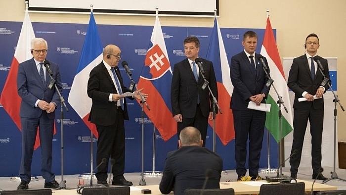 Ministros de Exteriores del V4 y Francia se reunieron