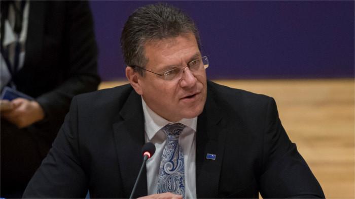 Еврокомиссар Шефчович проводит переговоры в Москве