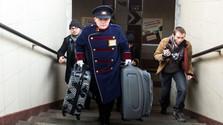 Носильщики багажа на ж/д станции в Братиславе
