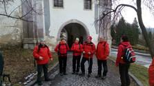 Zimný zraz turistov