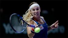 Д. Цибулкова на турнире в WTA TUR в Сингапуре