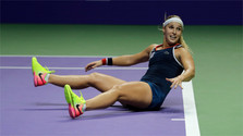 La Slovaque Dominika Cibulkova triomphe au Masters féminin à Singapour