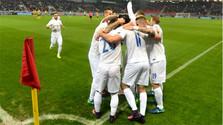 Slovak football national team defeats Lithuania