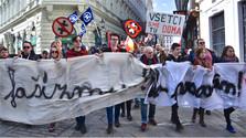 Demonstration gegen Faschismus und Extremismus in Bratislava