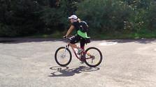 Biking to the upside-down pyramid