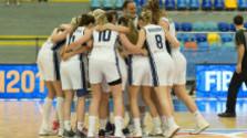 Slovenské basketbalistky po výhre s Ukrajinou
