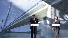 Orban und Fico setzen Spatenstich für neue Brücke in Komarno