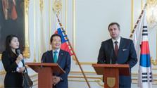 El presidente de la Asamblea Nacional de Corea del Sur, Chung Se-kyun se encuentra de visita a Eslovaquia