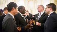 Kirchen-Vertreter vom Präsidenten empfangen