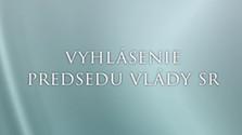 Príhovor prezidenta Slovenskej republiky