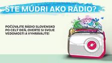 Rádio Slovensko. Ste múdri ako rádio?