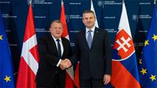 Rencontre du premier ministre slovaque avec son homologue danois