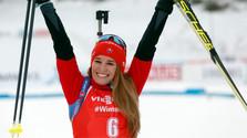 Biathletin Fialková dritte beim Verfolgungsrennen