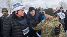 Le Ministre Lajčák s'est rendu à la ligne de contact à l'Est de l'Ukraine