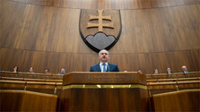 Präsident Kiska im Nationalrat