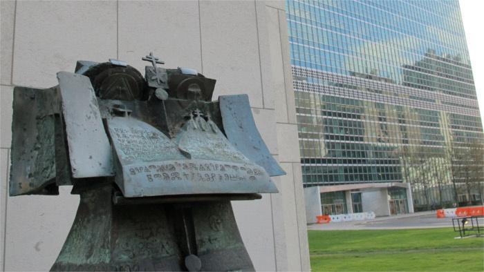Andrej Rudavský, Vierozvestcovia (New Yorku pred budovou OSN)
