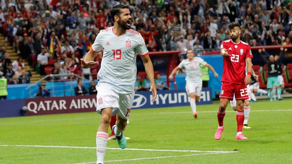 O výhre Španielska nad Iránom 1:0 rozhodol Costa